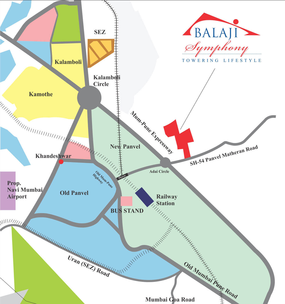 Balaji Symphony Project Location in Map